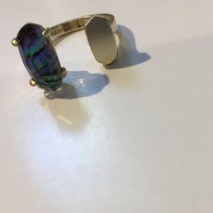 Kendra Scott adjustable Abalone Shell ring
